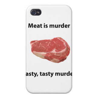 Meat is murder iPhone 4 cover