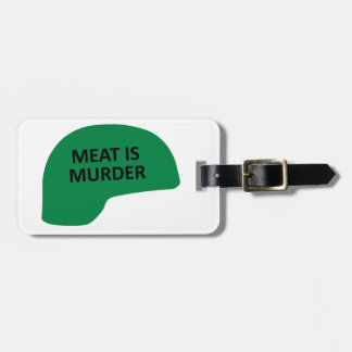Meat is Murder Luggage Tag