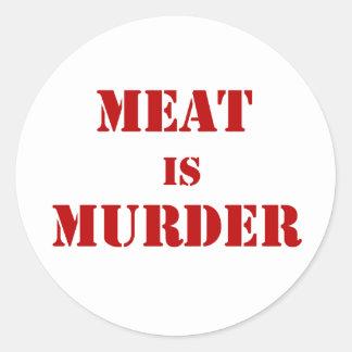 Meat is Murder Round Stickers