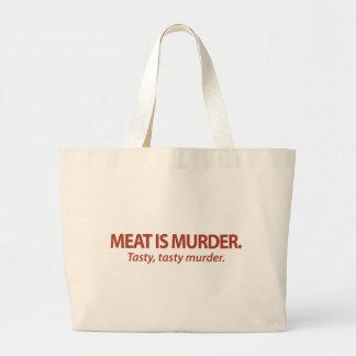 Meat is Murder...Tasty, tasty murder. Tote Bags