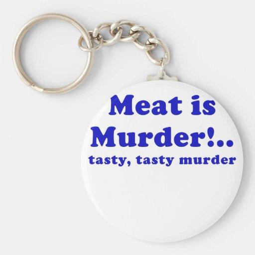 Meat is Murder Tasty Tasty Murder Keychains