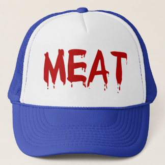 Meat Meaty I Love Meat Chicken Beef Goat Cow Blood Trucker Hat