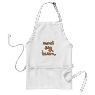Meat Say Bacon  Tshirts, Mugs, Fun Gifts Apron