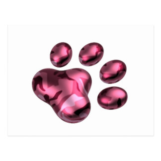 Meat sphere camouflage pink of cat postcard