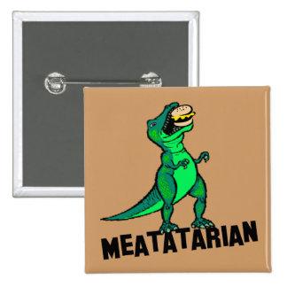 Meatatarian 15 Cm Square Badge