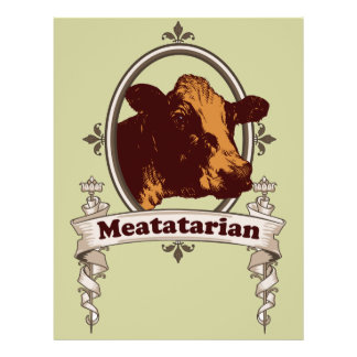 Meatatarian Cow Banner 21.5 Cm X 28 Cm Flyer