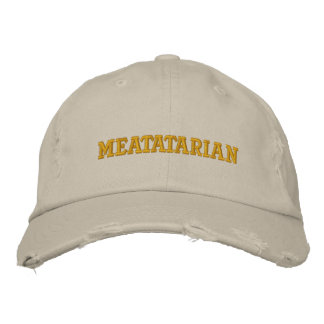 Meatatarian Embroidered Baseball Cap