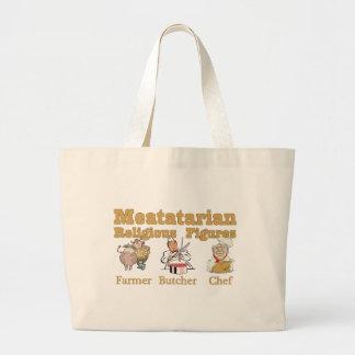Meatatarian Religious Figures Jumbo Tote Bag