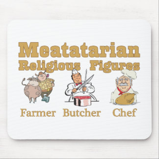 Meatatarian Religious Figures Mouse Pad
