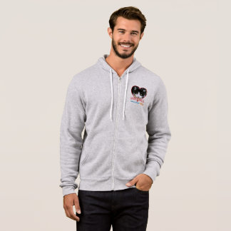 Meatball - Heather Grey Full Zip Hoodie