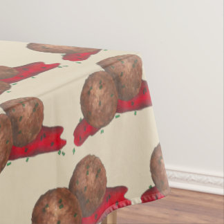 Meatballs Marinara Italian Restaurant Food Cooking Tablecloth