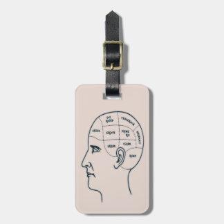 Meathead Phrenology Travel Bag Tags