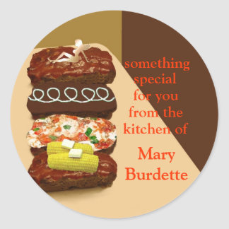 Meatloaf Buffet Personalized Round Sticker