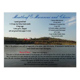 Meatloaf & Macaroni and Cheese Postcard