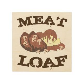 Meatloaf Meat Loaf Diner Food Restaurant Kitchen Wood Wall Decor