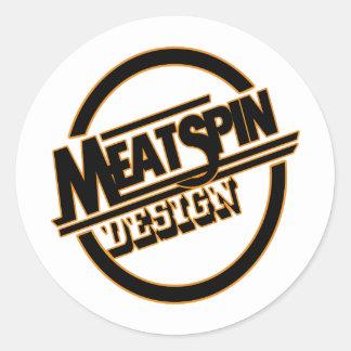 Meatspin Design Logo 2 Classic Round Sticker