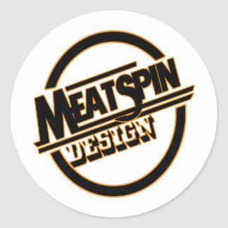 Meatspin Design Logo 2 Round Sticker