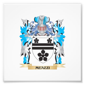Meazzi Coat of Arms - Family Crest Photographic Print