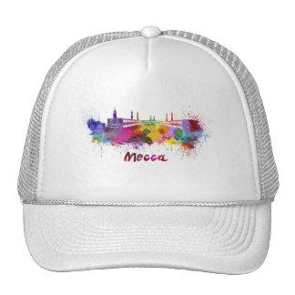 Mecca skyline in watercolor cap