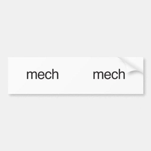 mech bumper sticker