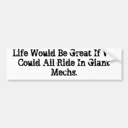 Mech Riding Bumper Stickers