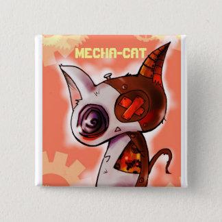 Mecha-Cat Pink 15 Cm Square Badge