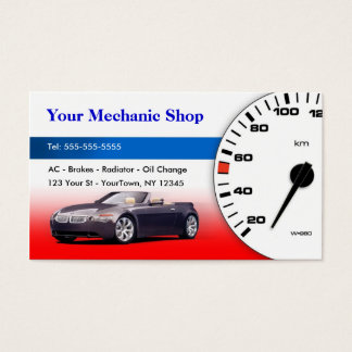 Mechanic / Auto Body Business Card