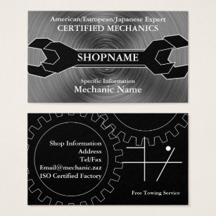 Auto shop business cards business card printing zazzle mechanicauto shop business card colourmoves Image collections