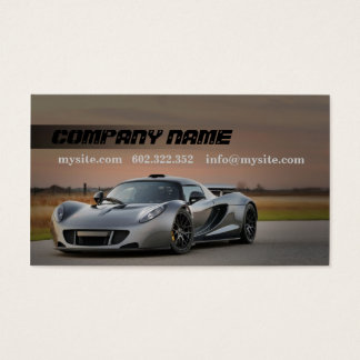 Mechanic Automotive Grey Car Business Card