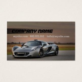 Mechanic Automotive Grey Car Fast Road Business Card