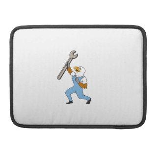 Mechanic Bald Eagle Spanner Standing Cartoon MacBook Pro Sleeve