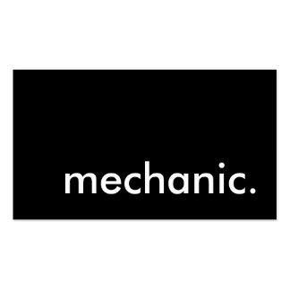 mechanic. business card