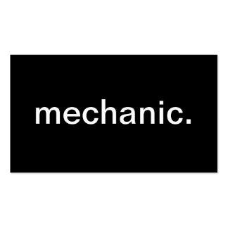 Mechanic Business Card Templates