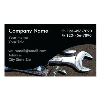 Mechanic Business Cards