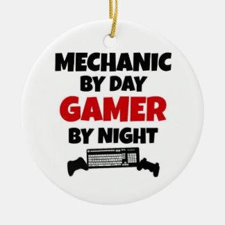 Mechanic by Day Gamer by Night Ceramic Ornament
