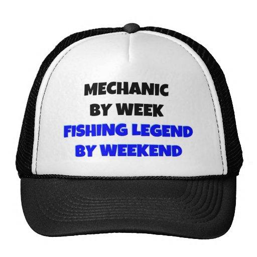 Mechanic by Week Fishing Legend By Weekend Trucker Hats