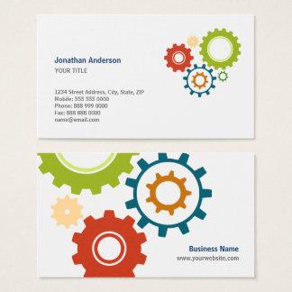 Mechanic Cogs Engineer business cards