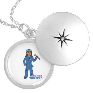 Mechanic - Dark Round Locket Necklace