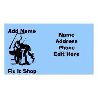 Mechanic Fix It Shop Cards Business Cards