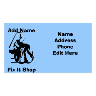 Mechanic Fix It Shop Cards Pack Of Standard Business Cards