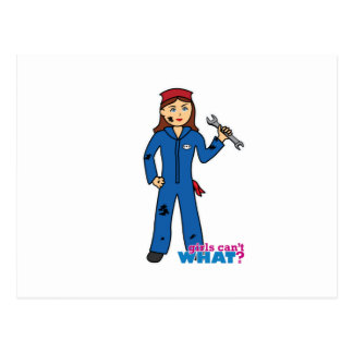 Mechanic Girl Postcard