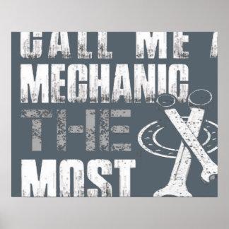 mechanic mens tshirt poster