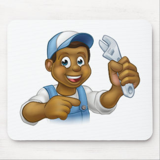Mechanic or Plumber Handyman Mouse Pad