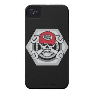 Mechanic Skull-01 iPhone 4 Cover