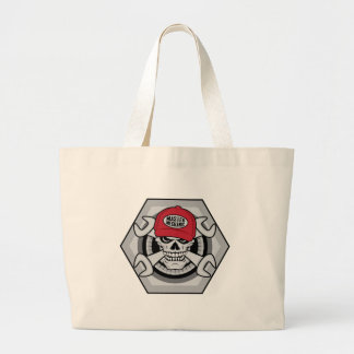 Mechanic Skull-01 Large Tote Bag