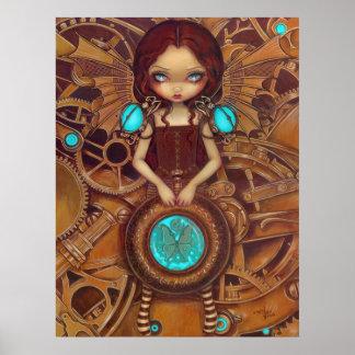 Mechanical Angel I steampunk fairy Art Print