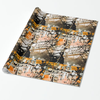 Mechanical Art Glossy Wrapping Paper
