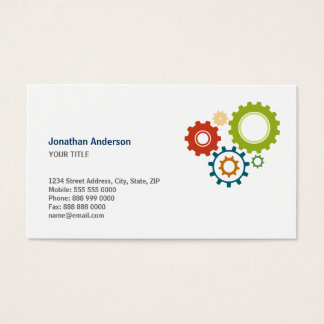 Mechanical Cogs business cards