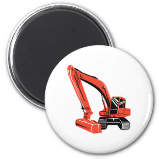mechanical digger construction excavator 6 cm round magnet