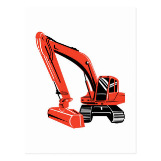 mechanical digger construction excavator post cards